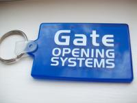 Gate Opening Systems Blue plastic tag front.JPG